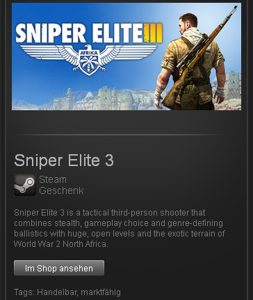 Sniper Elite 3 - STEAM Gift region free / ROW / GLOBAL