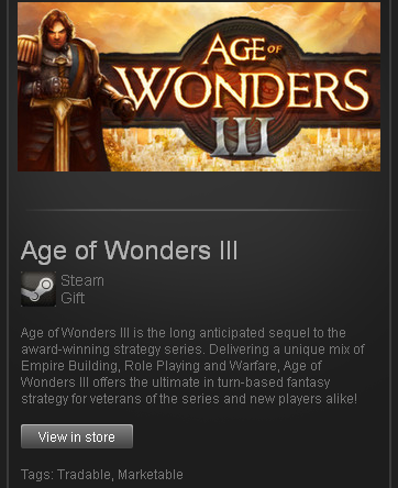 Age of Wonders III - STEAM Gift - Region Free / GLOBAL