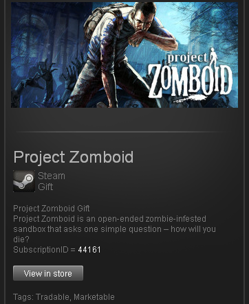 Project Zomboid - Steam Gift - (Region RU+CIS+UA**)