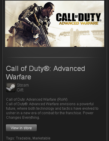 Call of Duty Advanced Warfare - STEAM - Region Free/ROW