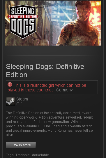 Sleeping Dogs Definitive Edition - STEAM - ROW / Free