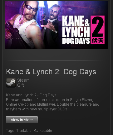 zzzz_Kane and Lynch 2 Dog Days ROW Steam Gift Reg Free