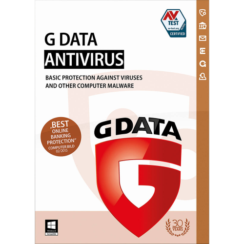 G DATA ANTIVIRUS 3PC 1 YEAR + Gift