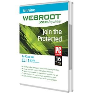 Webroot SecureAnywhere AntiVirus 2016 1PC 1 YEAR + Gift