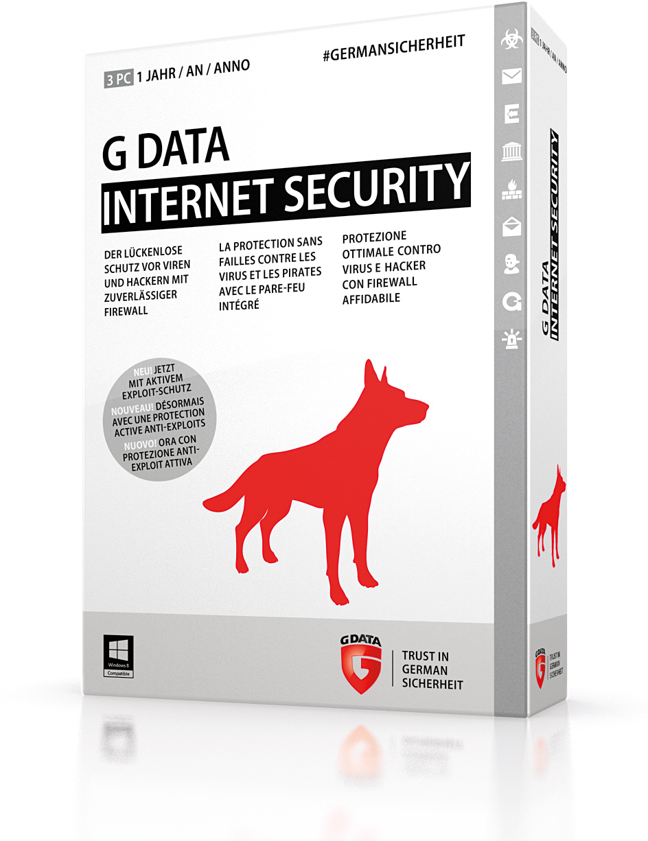 G DATA INTERNET SECURITY 3PC 2 YEARS + Gift