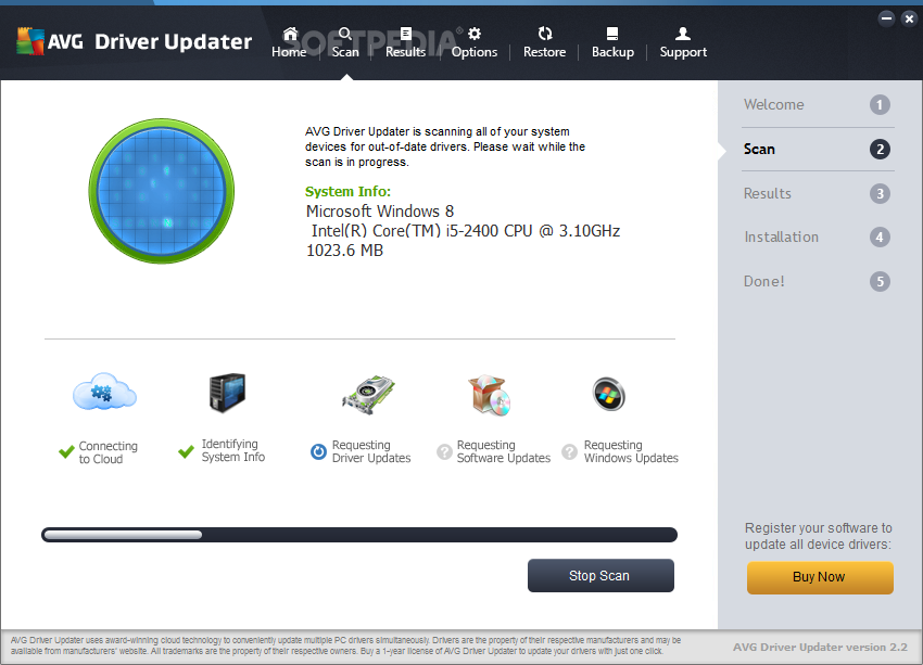 AVG Driver Updater - 1 Year / 1 PC + Gift