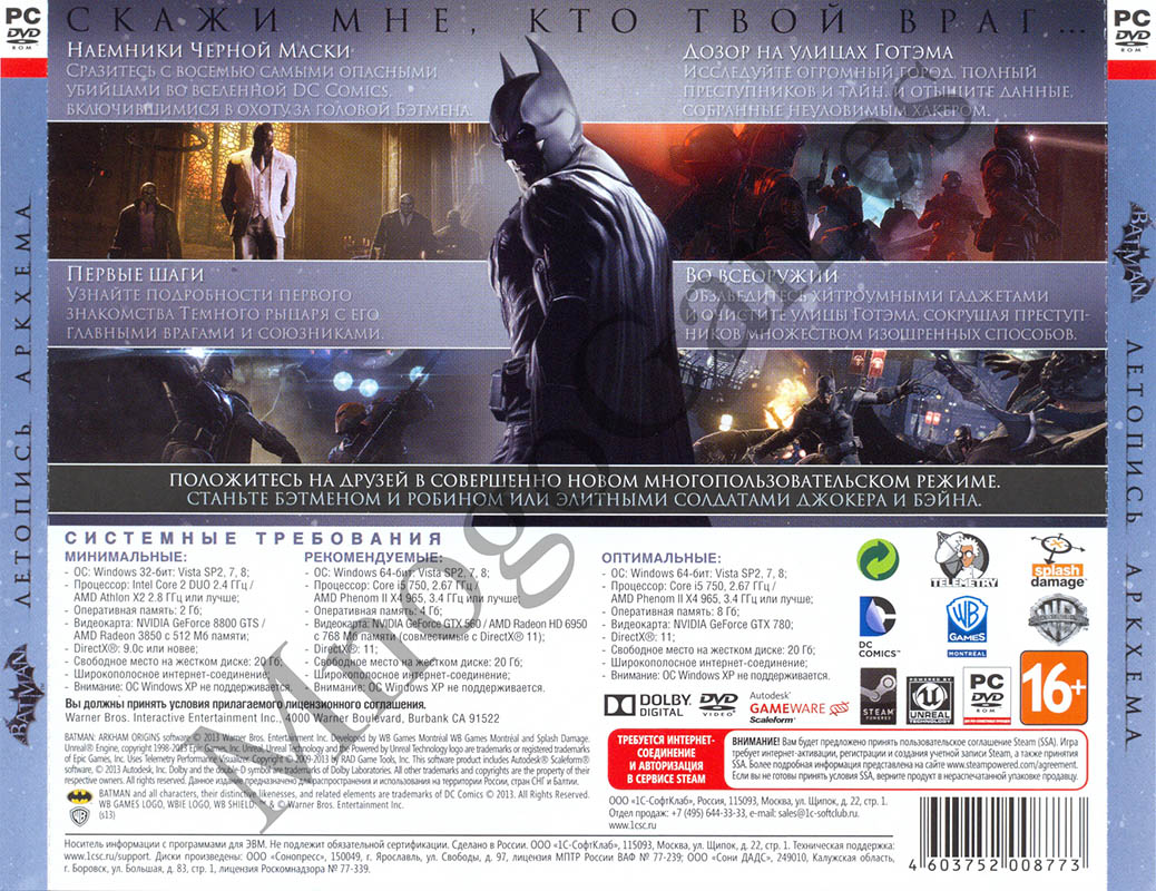 Batman: Arkham Origins (Steam Key) - PHOTO