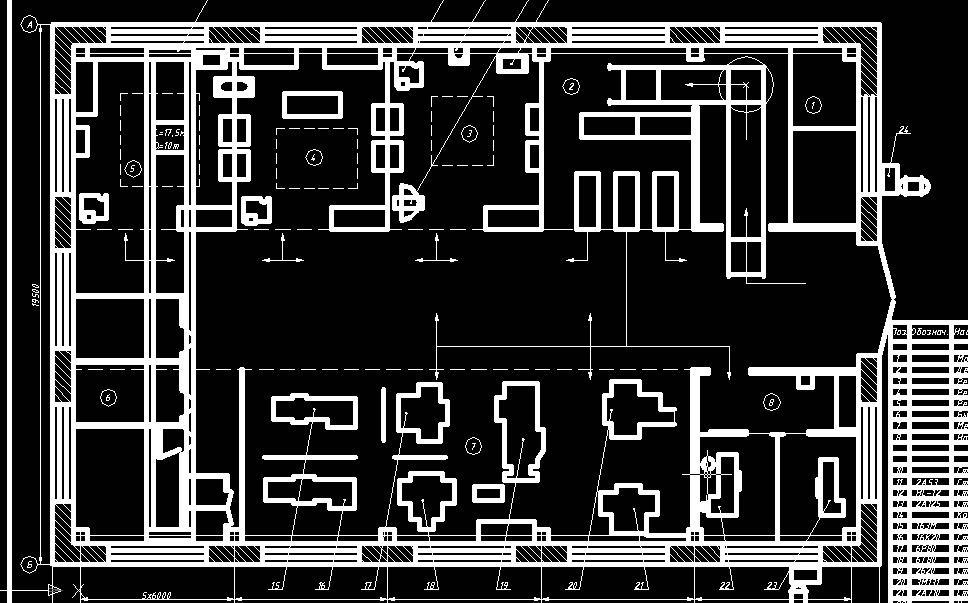 Drawings 2 processing plants plans (AutoCad)