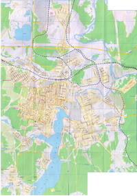 Detailed map of the city of Revda