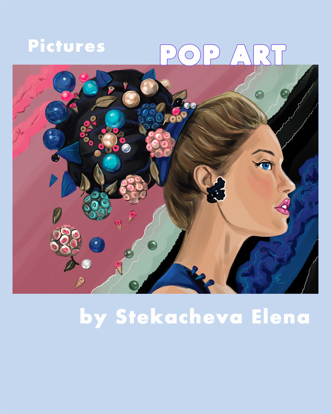 POP ART 2D. Catalogue of paintings by Stekacheva Elena.