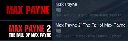 Max Payne Bundle 1+2 (Steam Key Region Free /ROW)