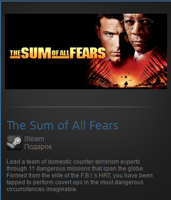 The Sum of All Fears (Steam Gift Region Free / ROW)