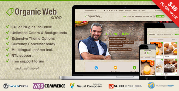 Organic Web Shop - russian localization