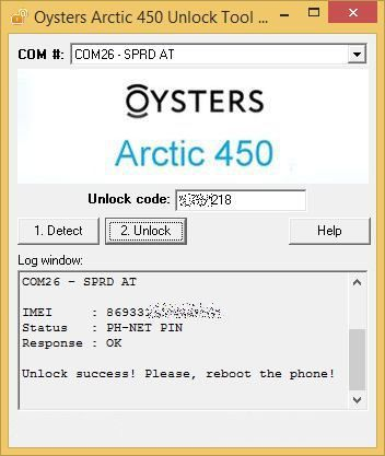 Oysters Arctic 450. Network Unlock Code (NCK).