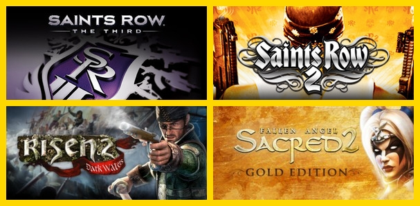 Saints Row: The Third+Saints Row 2+Risen 2: DW+Sacred 2