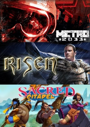 Metro 2033 + Risen + Sacred Citadel (Steam Key / RoW)