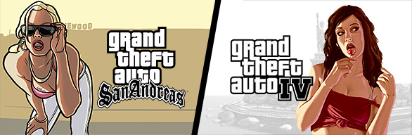 Grand Theft Auto IV + GTA: San Andreas (Steam Gift/RoW)