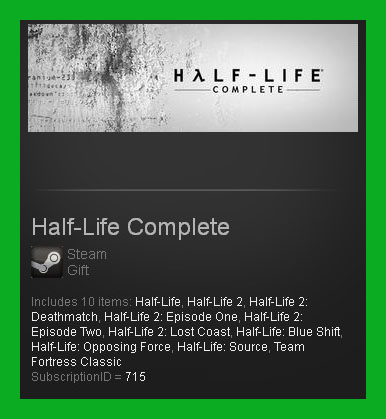 Half-Life Complete (Steam Gift/ RoW) + ПОДАРОК