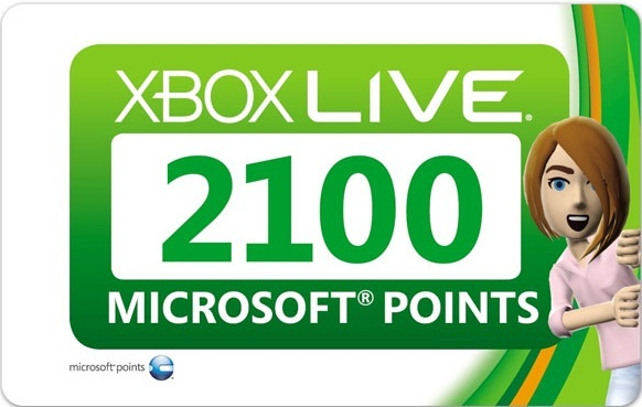 XBOX 2100 MICROSOFT POINTS (EU/RUS) SCAN+СУПЕРСКИДКИ