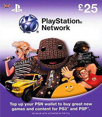PLAYSTATION NETWORK  PSN 25 UK  DISCOUNT +GIFT