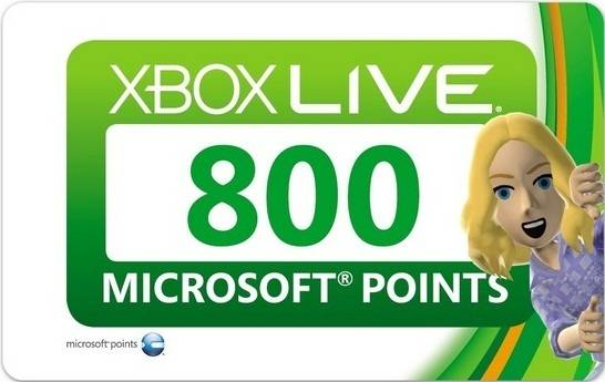 XBOX 800 MICROSOFT POINTS (EU/USA/UK/RUS)+СКИДКИ
