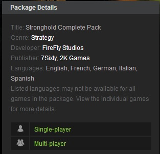 Stronghold Complete Pack (Steam Gift  Region RU+CIS)