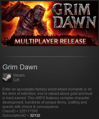 Grim Dawn (Steam Gift - Region Free / ROW)