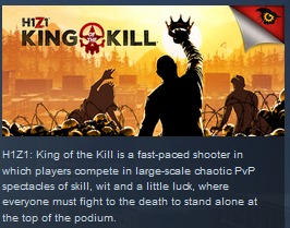 H1Z1 : King of the Kill STEAM Gift ROW