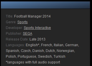 Football Manager 2014 (Steam Gift ROW - Region Free)