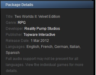 Two Worlds II: Velvet Edition -Steam Gift Region RU+CIS