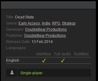 Dead State(Steam Gift  Region Free)