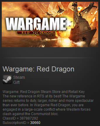 Wargame Red Dragon (Steam Gift RU/CIS/VPN)
