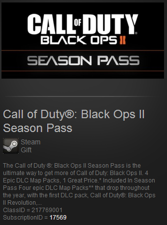 Call of Duty Black Ops II 2 Season Pass Steam Gift ROW)