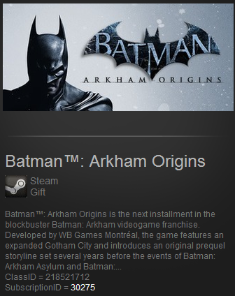Batman Arkham Origins ROW Steam Gift / Reg Free / Tradb