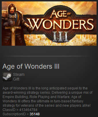 Age of Wonders III ROW (Steam Gift Region Free)