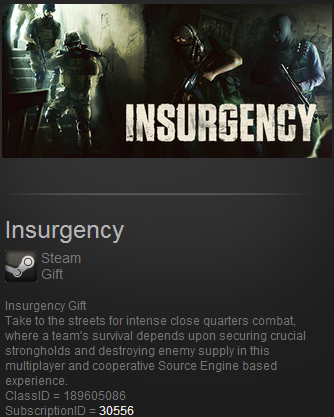 Insurgency (Steam Gift Region Free)