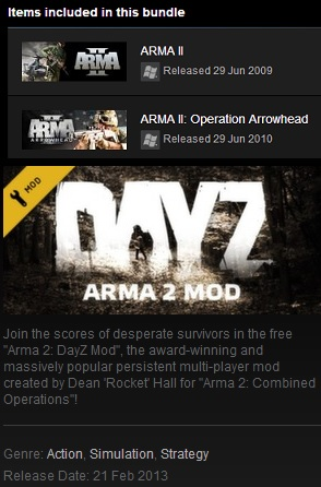 Arma II Complete Collection + DayZ  ROW (Steam Gift )