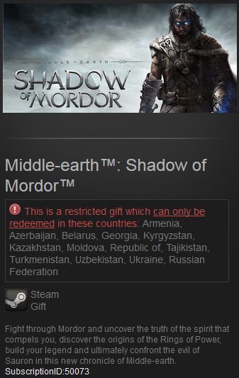 Middle-earth: Shadow of Mordor Steam Gift RU + CIS