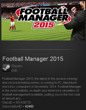 Football Manager 2015 (Steam Gift / Region Free)