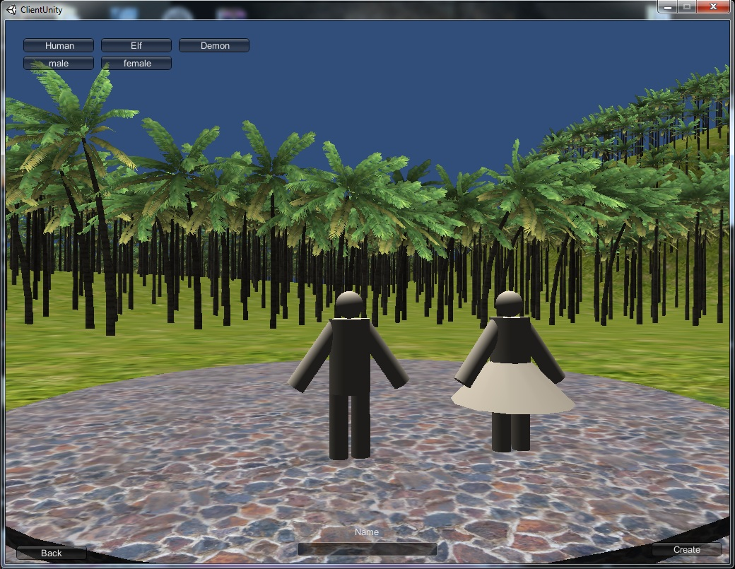 Unity3d client server.MMORPG.Sozdanie character ver.2