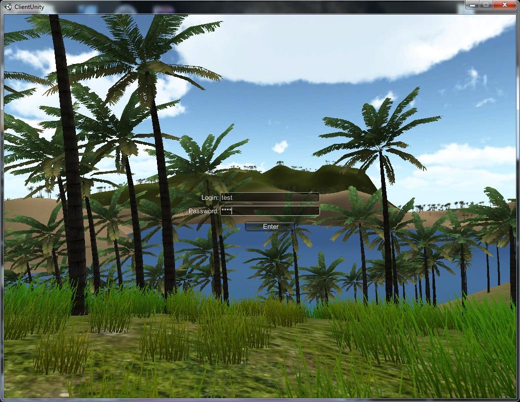 Unity3d client server MMORPG  ver 3