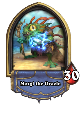 Hearthstone MORGLE ORACLE - shaman hero portrait + Gift