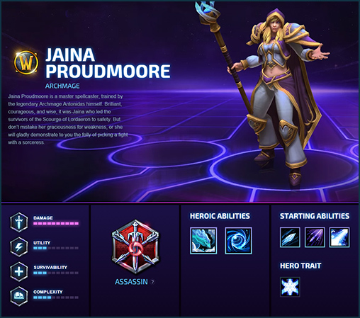 Heroes of the Storm Hero Jaina Key