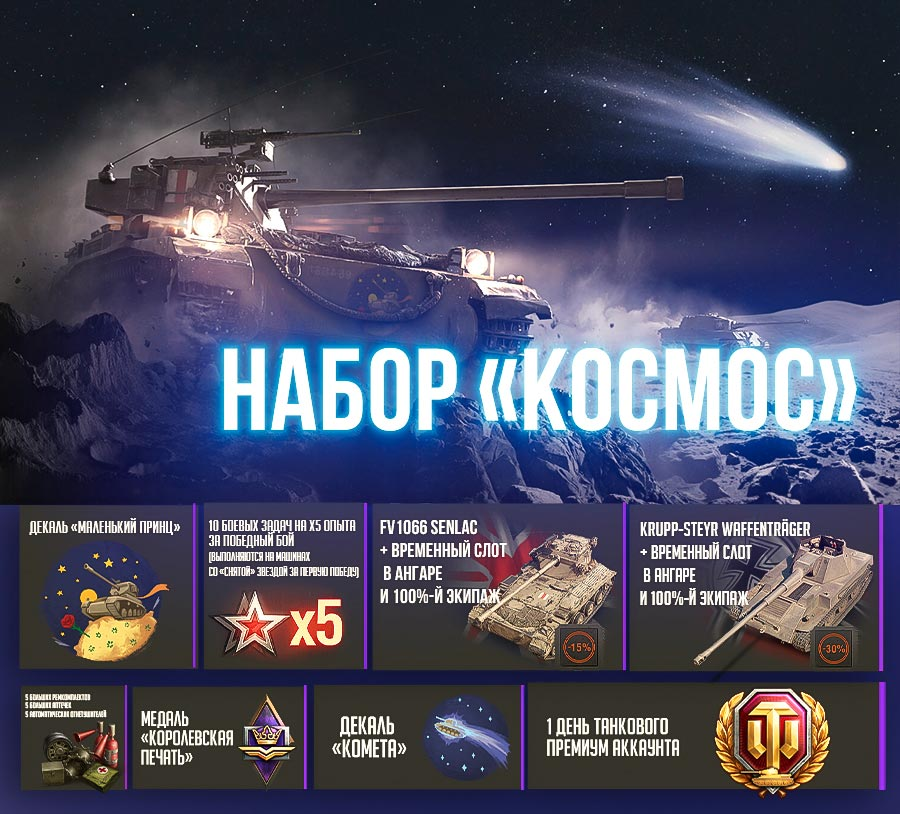 World of Tanks SPACE package (Without King Tiger)