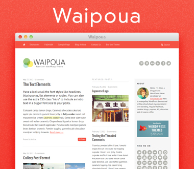 Waipoua HTML5 CSS3 template for WordPress site
