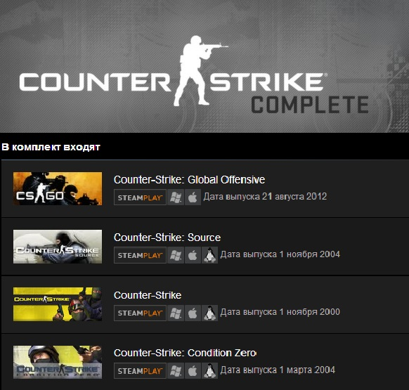 Counter-Strike Complete (Steam Gift/ Region Free)