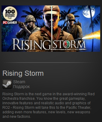 Rising Storm (Steam Gift / Region Free)