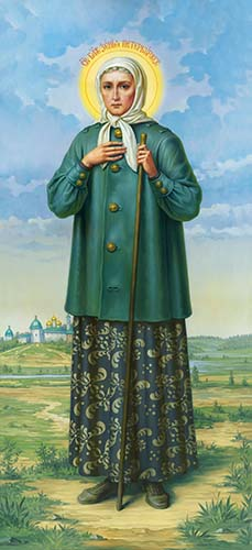 Saint Blessed Xenia of St. Petersburg _006 (74x161sm.)