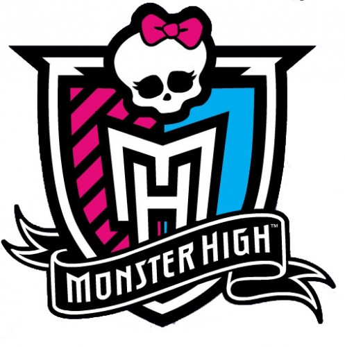 "Emblem of ""Monster High"" in the vector."