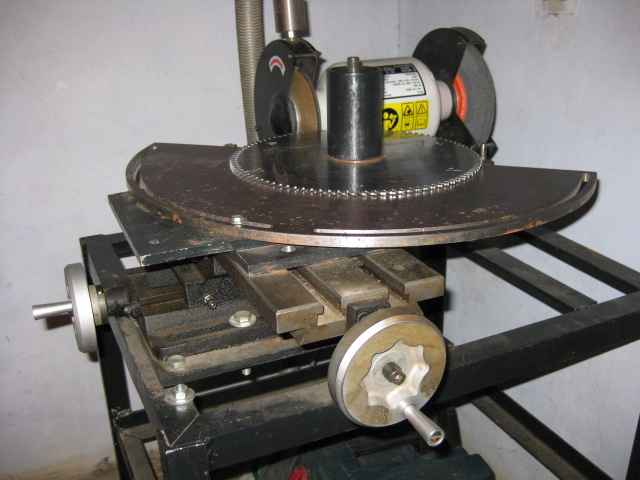 Homemade machine for sharpening circular saws. Drawings